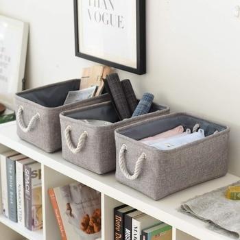 832fa50a45d Plegable cesta de lavadero de bolsa de almacenamiento de ropa interior  calcetines organizador Bra libros de caja de almacenamiento de juguetes de  ...