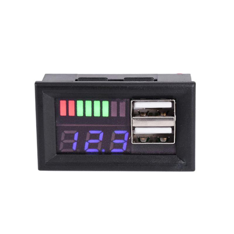 Синий светодиодный вольтметр с цифровым дисплеем, мини-измеритель напряжения, вольт, тестер, панель для автомобилей, мотоциклов, автомобиле...