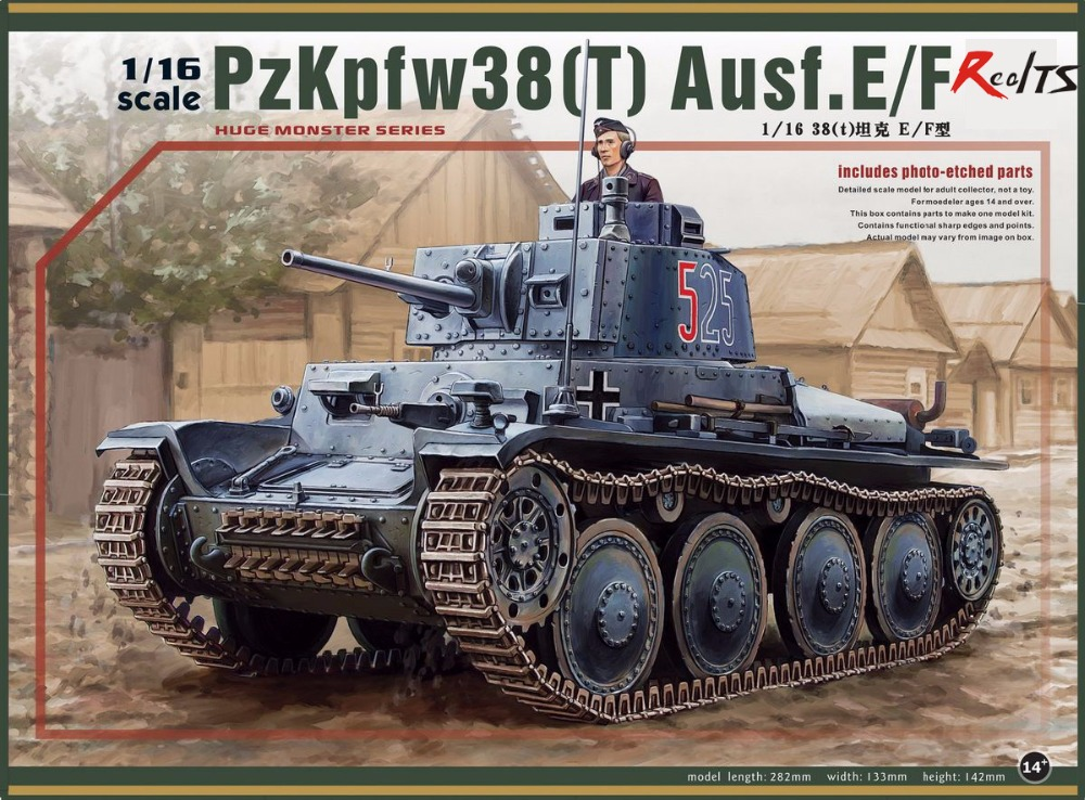 RealTS Panda hobby PH16001 1 16 scale PzKpfw38 t Ausf E F