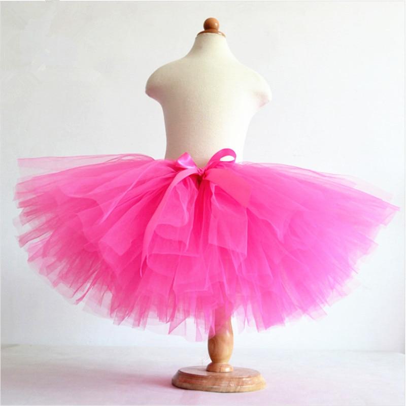 Hot Sale Summer Fluffy 3 Layer Girls Rainbow Tutu Skirts Baby Kids Tulle Tutu Skirt Children