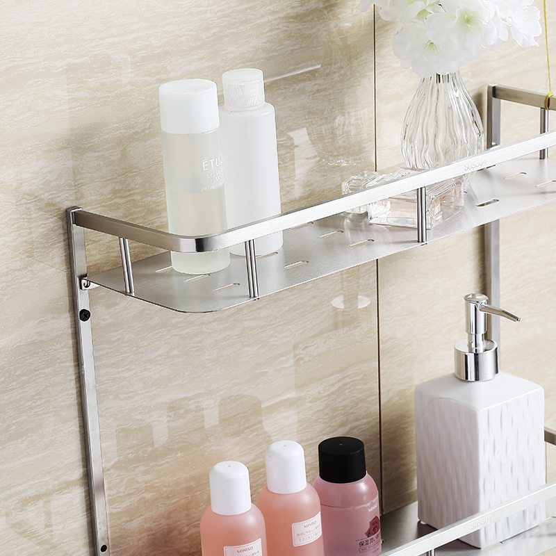 BLH S823 Bathroom Product Accessories Stainless Steel Bathroom Wall Shower  Shelf Shower Caddy Storage Rack Brushed Nickel In Bathroom Shelves From  Home ...