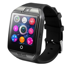 цены на Bluetooth Q18 Smart Watch With Camera Facebook Whatsapp Twitter Sync SMS Smartwatch Support SIM TF Card For IOS Android Phone  в интернет-магазинах