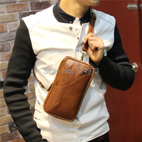 fashion PU leather men vintage chest bags fanny pack,man crossbody unisex women pochete waist-bag - Lotus Warehouse store