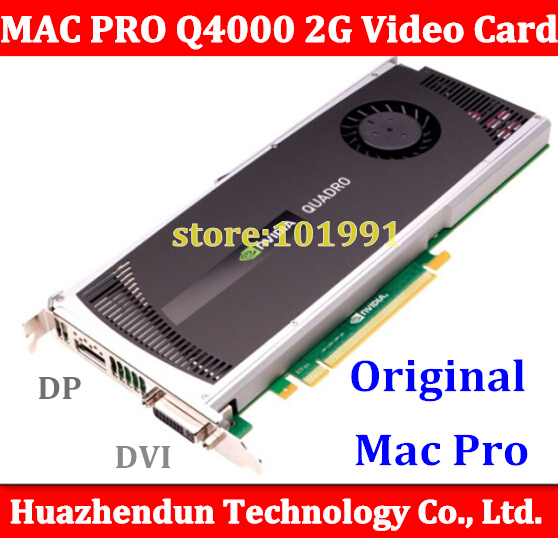 Fro Mac Pro Quadro 4000 Graphics Video Card PCI-E GDDR5 For 08-12 machine MP 3.1-5.1 stronger than HD5770 Free ship via DHL кабель питания 20 shippment mac pro g5 mac 6pin 2 pci e 6pin 4500 gtx285 hd4870 hd5770 gtx285