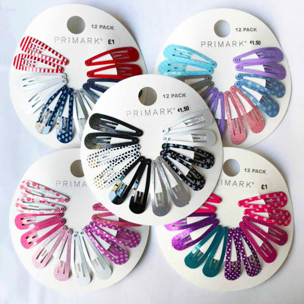 5 different style 12pcs/lot girls snap hair clips paint solid print dot flowers BB clips glitter shining hairpins   headwear