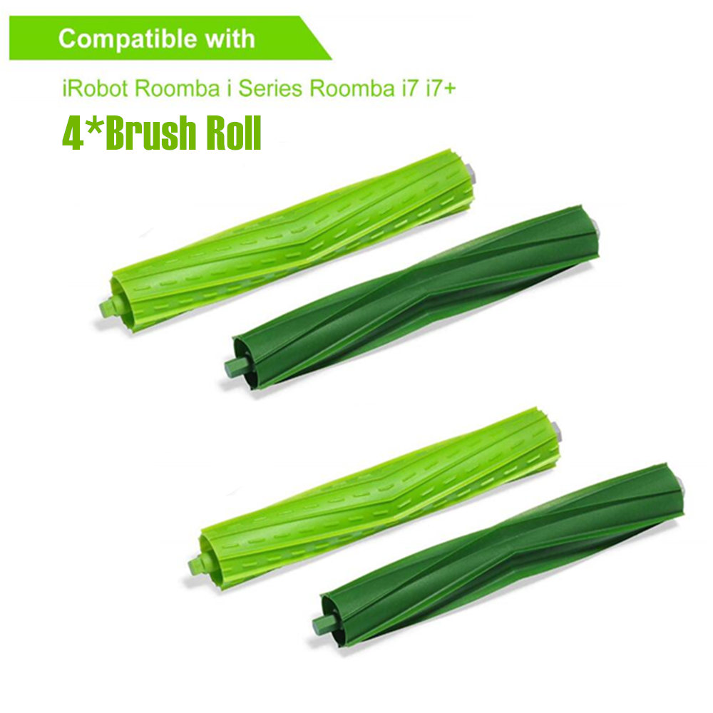 Home Appliances 2pcs Main Brush Roll For Irobot Roomba I7 E5 E6 I Series Robot Vacuum Cleaner Parts Replacement Roll Brushes Accessories Kit Vacuum Cleaner Parts
