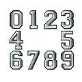 Черно-белые вышитые значки с арабскими цифрами с вышивкой, нашивки с вышивкой утюгом для куртки, одежды, сумки, брюк