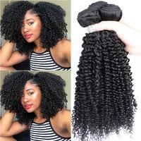 Malaysian Virgin Hair 3B 3C Kinky Curly Hair Weave Bundles Natural Black Color 100% Human Hair Extensions Dolago Hair Products