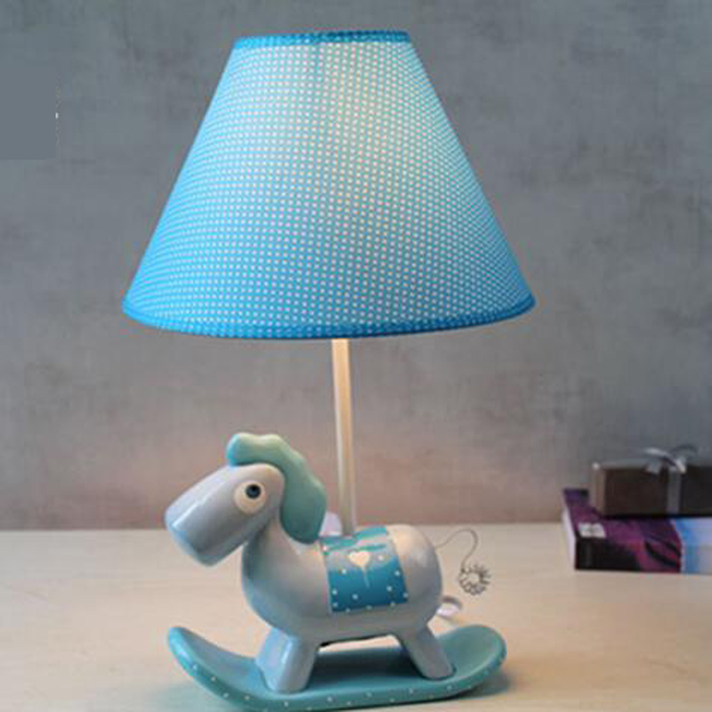 LED poney lampe de table chambre lampe de chevet créatif chambre d'enfants dessin animé princesse fille mignon et chaud wl3241037