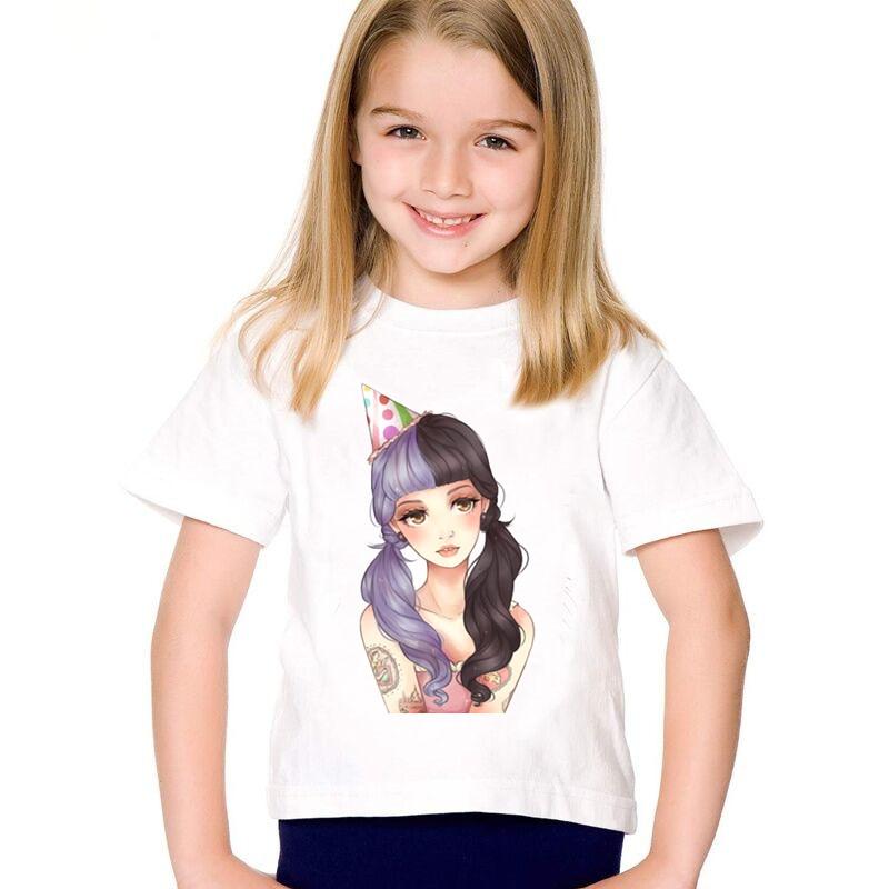 Cartoon Print Melanie Martinez Children Funny T Shirts Kids Summer