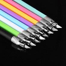 1 шт. металлический нож для резьбы, студенческий нескользящий нож для резки бумаги, канцелярские принадлежности, школьные принадлежности, инструменты для резки
