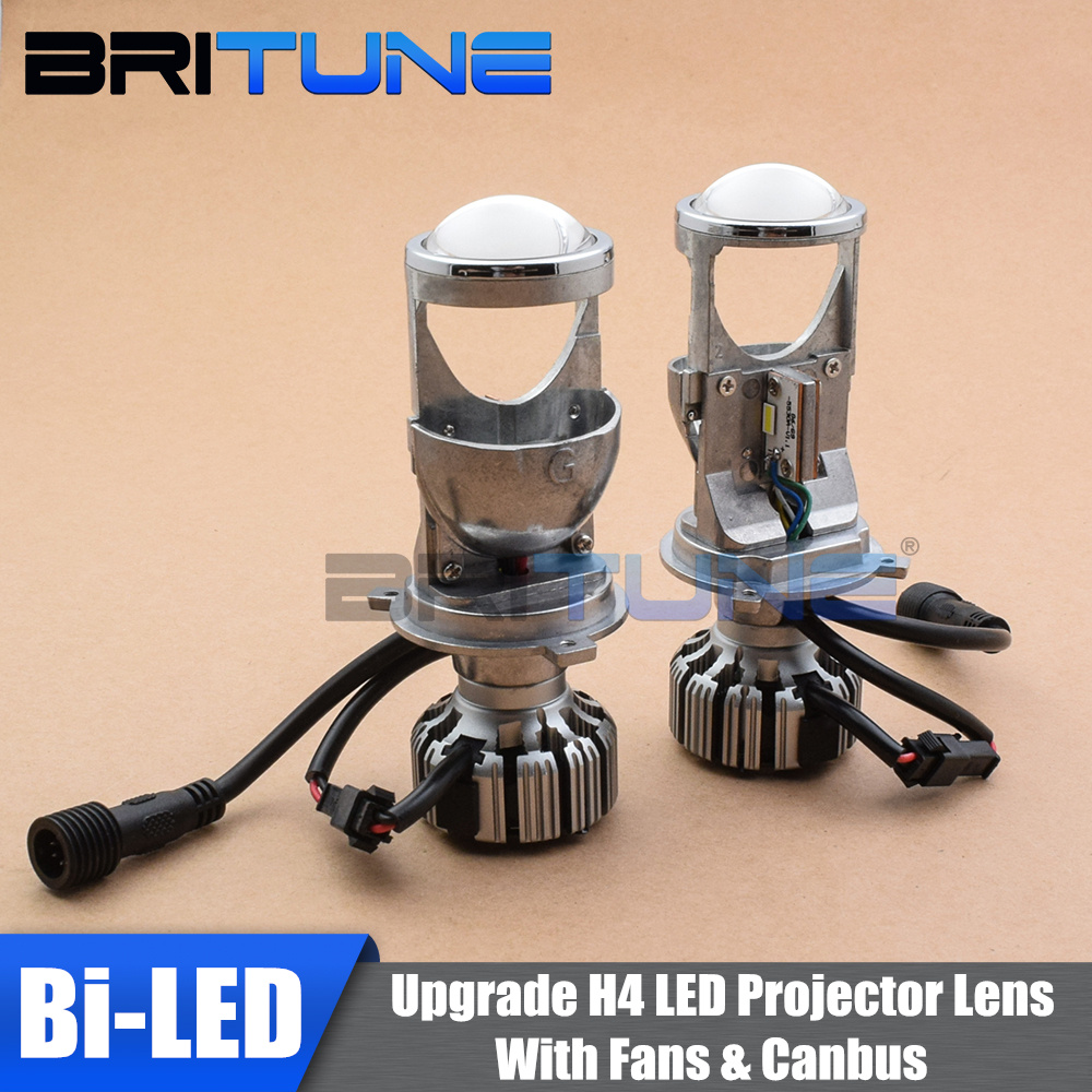 Upgrade Mini H4 Bi LED Projector Lenses With EMC Canbus Decoder For H4 9003 Cars Headlight