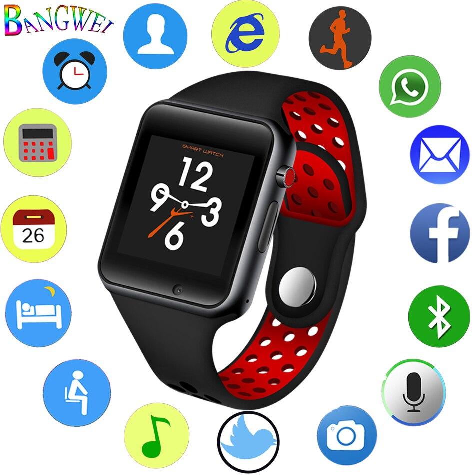 Nouvelle montre connectée homme femme Intelligents Sport Podomètre Support Carte SIM Pour téléphone mobile android Bluetooth caméra à distance smartwatch