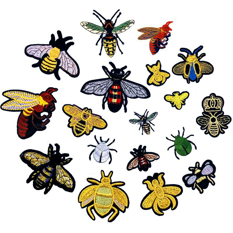 Beehive Bumblebee Bumble Bee Embroidered Iron On Applique Patch