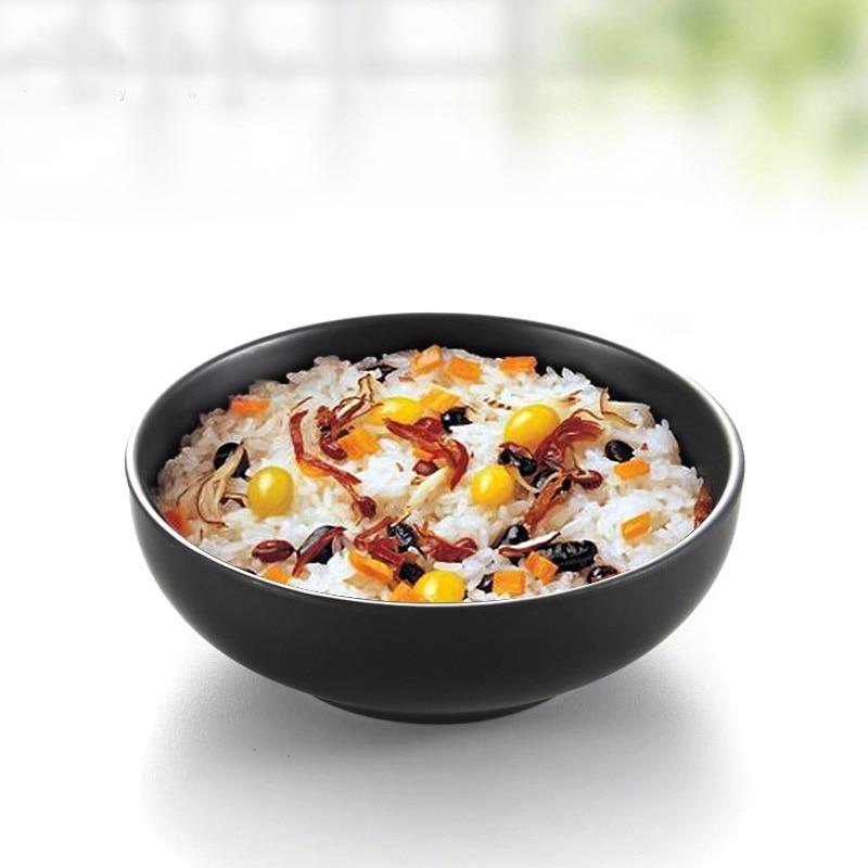Black Frost Small Bowl Restaurant Hotel Rice Bowl A5 Melamine Dinnerware Soup Bowl KTV Snack Bowl Imitation Porcelain Tableware