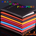 RussiaTravel Passport Holder Business Card Holder Women PU Leather Passport Cover ID Credit Card Holder Men Passport Wallet