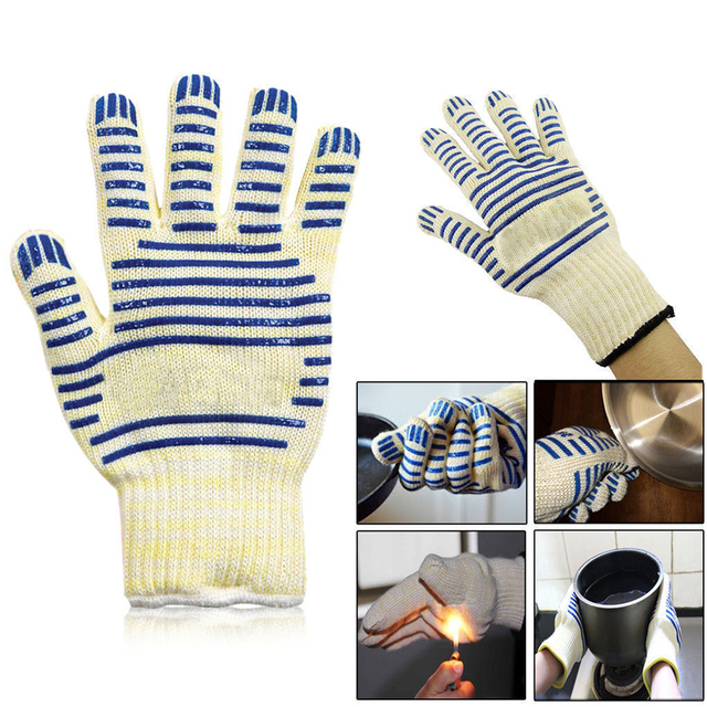Universal Kitchen Microwave Oven Glove Gloves Heat Proof Resistant 250 Degree Cooking Tools For Right Left
