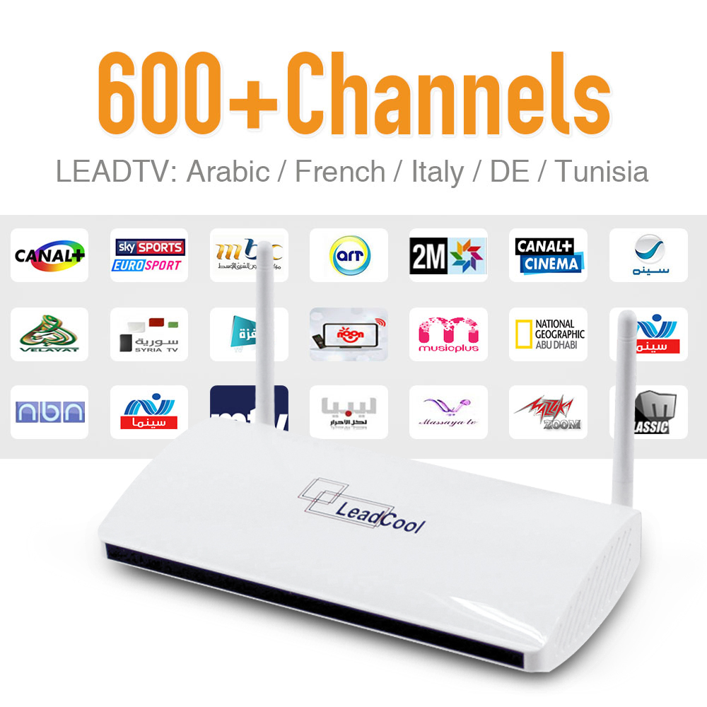 Canales de IPTV Árabe IPTV 600 Europa Con IPTV Android TV Box Quad Core IPTV Caj