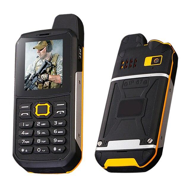 SUPPU F8 IP67 водонепроницаемый UHF Walkie-Talkie bluetooth 3.0 фонарик банк силы mp3 FM пыле прочный мобильный телефон P284