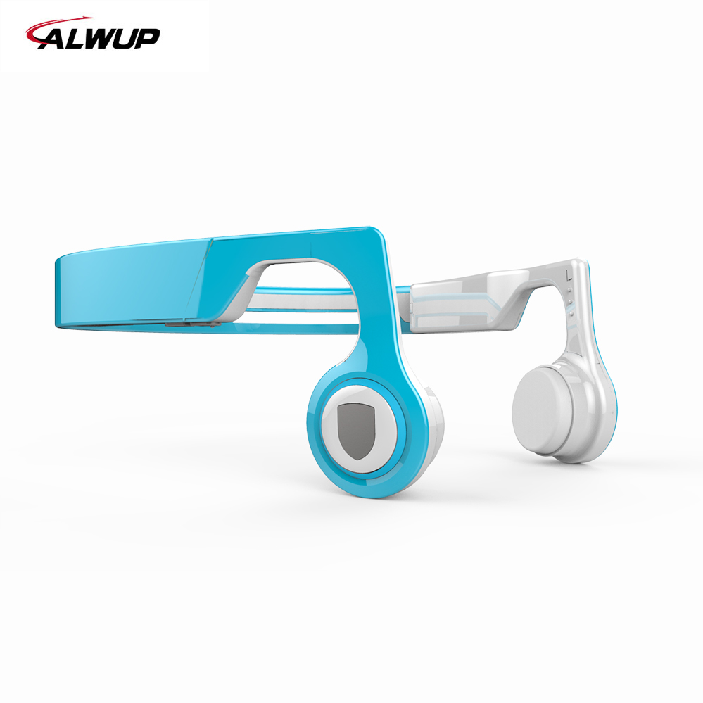 ALWUP Wireless Headphone Bluetooth earphone Bone Conduction Sports Stereo Headset for Phone with Microphone Bluetooth 4.2