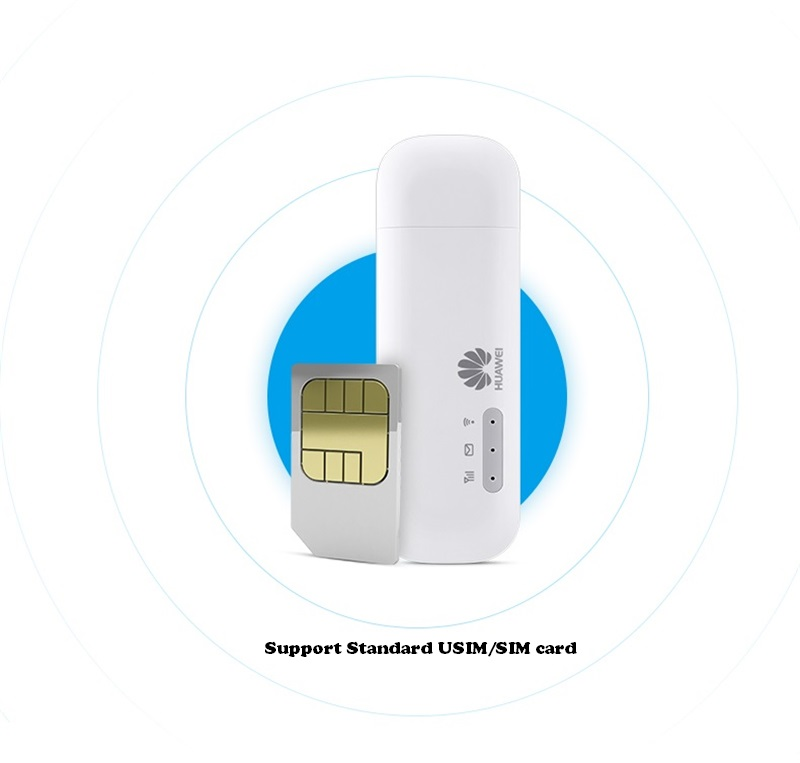 Huawei E8372 E8372h-153 LOGO HUAWEI avec 2 pièces Antenne 150 M LTE USB Wingle LTE 4G WiFi USB Modem Débloqué - 3