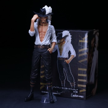 Anime ONE PIECE Oka Shichibukai Mihawk Sir.Crocodile Donquixote Doflamingo Figure Model Toys 26cm
