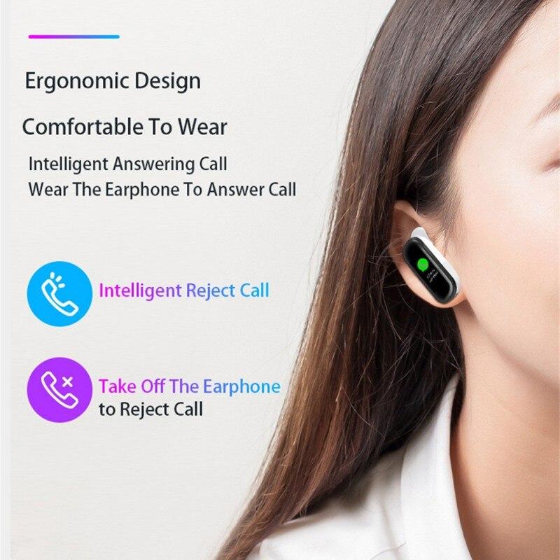 Bluetooth couleur casque parler bande intelligente Bracelet moniteur de fréquence cardiaque sport montre intelligente passomètre Fitness Tracker Bracelet - 5