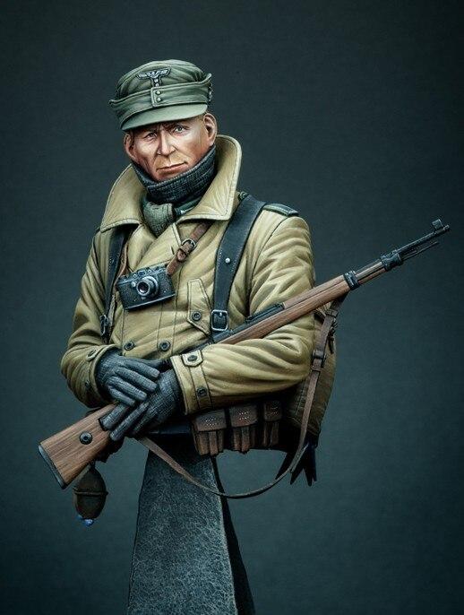 WWII German Mountain Troops Bust