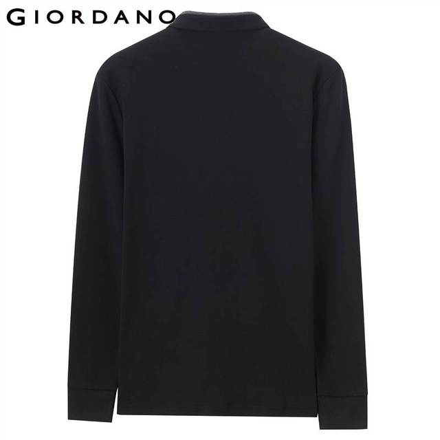 Giordano Men Polo Shirt Men Embroidery Lion Polo Men Long-sleeve Men Polo Shirts Slim Fit Polo Homme Warm Stylish Camisa Winter 2