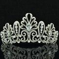 Nuevo 2015 AAA + CZ circón gota boda corona de la Tiara pedazo principal quinceañera Tiaras y coronas de pelo la joyería de cristales austriacos SHA8636