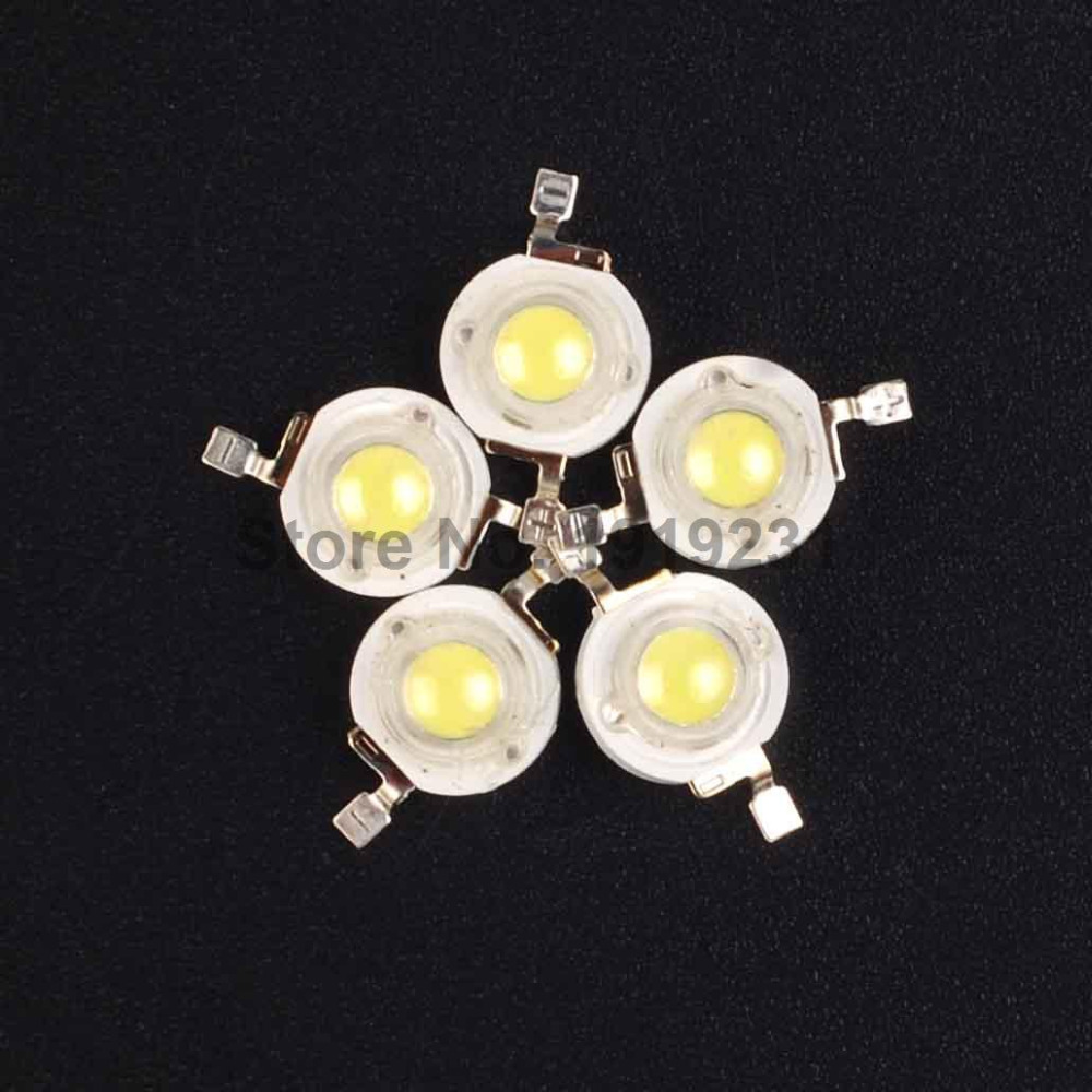 100PCS High Power Epistar Chip 1W Cold White LED Lamp Beads for led Bulb/Spotlight/Floodlight