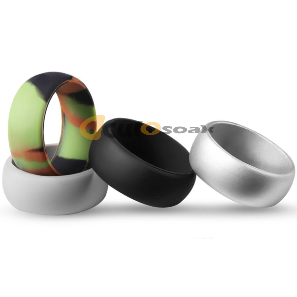 8MM Hypoallergenic Crossfit Flexible Silicone Finger Ring Wedding Engagement Simple Rubber Rings For Men Women 2019 New