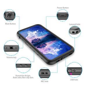 Image 5 - Coque étanche pour iPhone XR X XS Max 6 6S 7 8 Plus 360 coque arrière robuste et transparente avec Film de protection décran