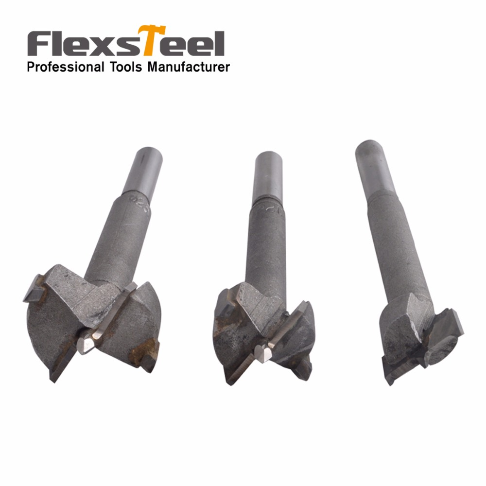 Flexsteel Hand Tools New YG8 Forstner Auger Drill Bit Woodworking Hole Saw Wooden Wood Cutter Dia 3 Piece Set 16MM 20MM 25MM new 50mm concrete cement wall hole saw set with drill bit 200mm rod wrench for power tool