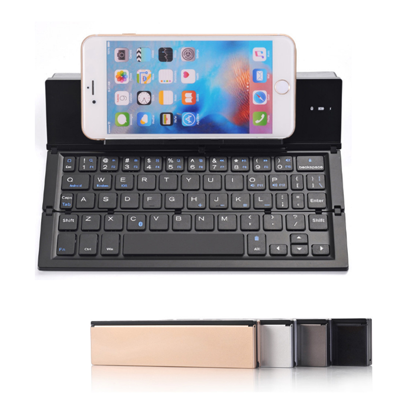 Bluetooth 3.0 Wireless Mini Folding Keyboard 58 Keys for IOS Mobile Phone Android  Windows Tablet Portable Rechargeable Keyboard
