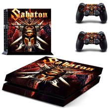 Sabaton Vinyl Cover Decal PS4 Skin Sticker for Sony PlayStation 4 Console & 2 Controller Skins for PS4 Accessories