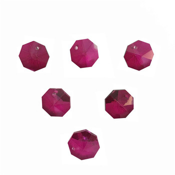 2000pcs/Lot  One Hole 14mm Rose Color Crystal Glass Octagon Beads In One Hole Wholesale , Free Shipping