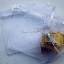 100pcs/lot white colour Organza Bags 10x15 Wedding Favour Gi