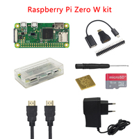 Raspberry Pi Zero W+ABS Case+Heat Sink+Screwdriver+OTG Cable+Mini HDMI Adapter+Power Adapter+16G Card+Camera+HDMI Cable RPI 0 W