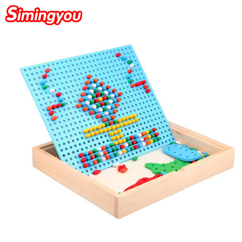 Simingyou 3D Puzzles Toys For Children Composite Picture Puzzle Creative Mushroom Educational Toys B40S-JF12 Drop Shipping led 3d puzzle toys l503h empire state building models cubicfun diy puzzle 3d toy models handmade paper puzzles for children