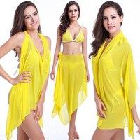 bab580e3b41 Maxmessy Women More Wear Beach Cover Up Holiday Bikini Set Beachwear Cover  Ups Swimsuit Seaside Beach