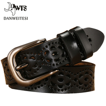 [DWTS]New Women Fashion Wide Genuine Leather Belt Woman With