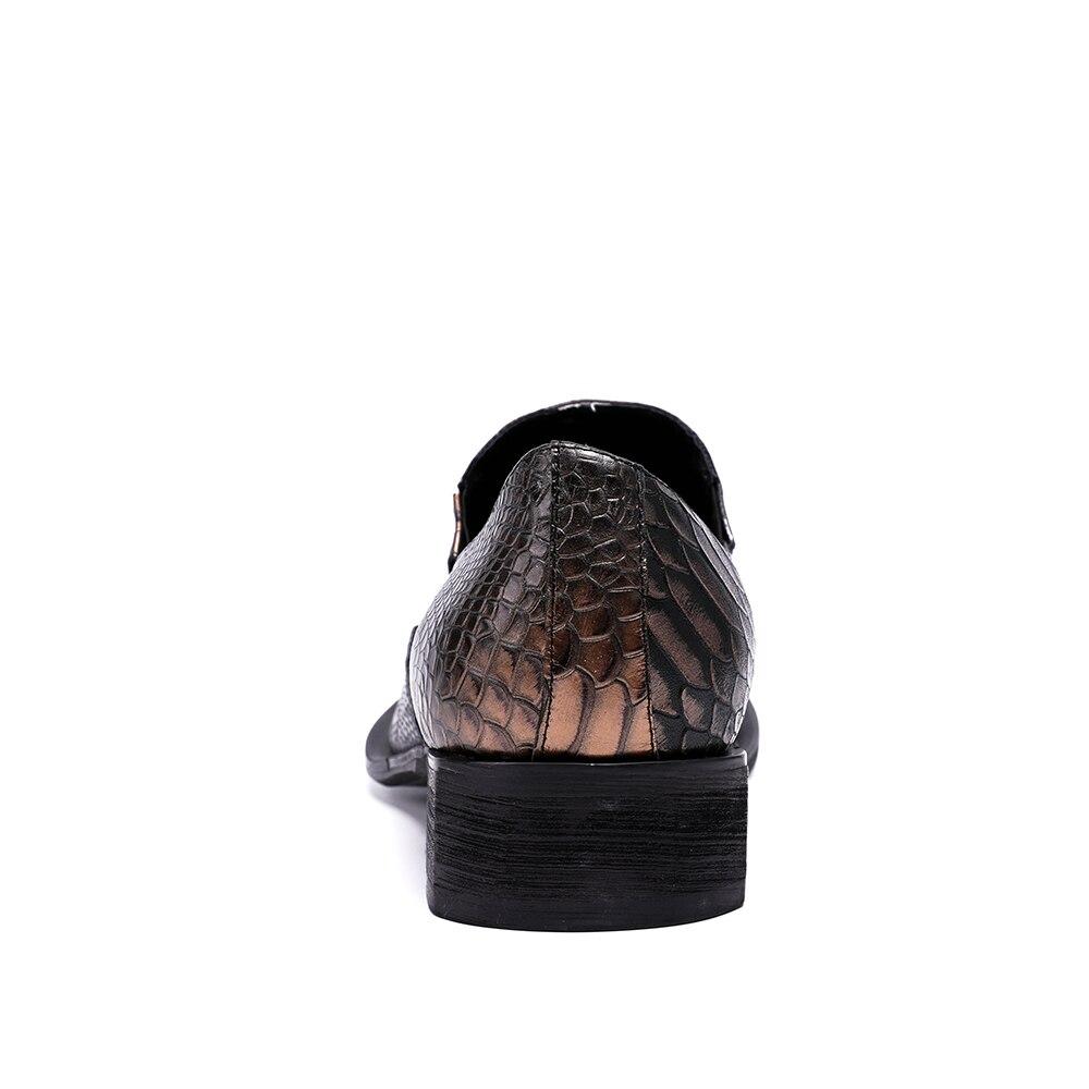 Couro Casamento Oxfords Negócios Genuíno Chocolate Vestem Sapatos Formais Toe Christia Se Novos Apontou Bella Moda Italiano Homens Da De xqHZw0SRn