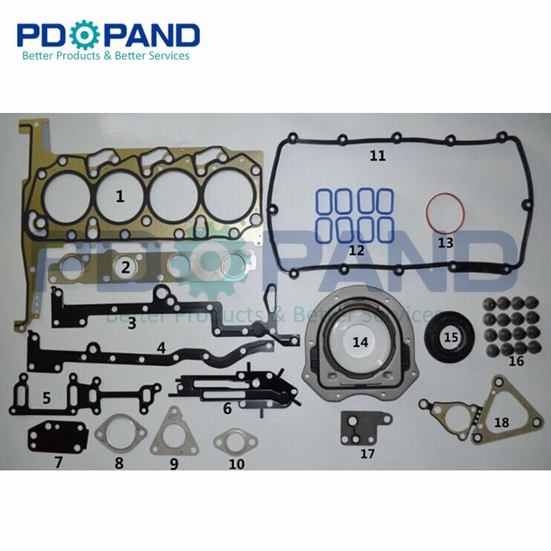Full Set Overhaul Rebuilding Gasket Kit For Ford TRANSIT V348 2.2T With Oil Seals,Metal Cylinder Head