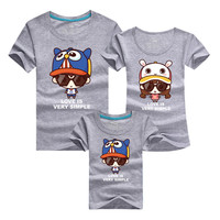 2017 Summer Leisure Time Parenting T Pity New Pattern Full Cotton Printing T Pity Parenting Dress