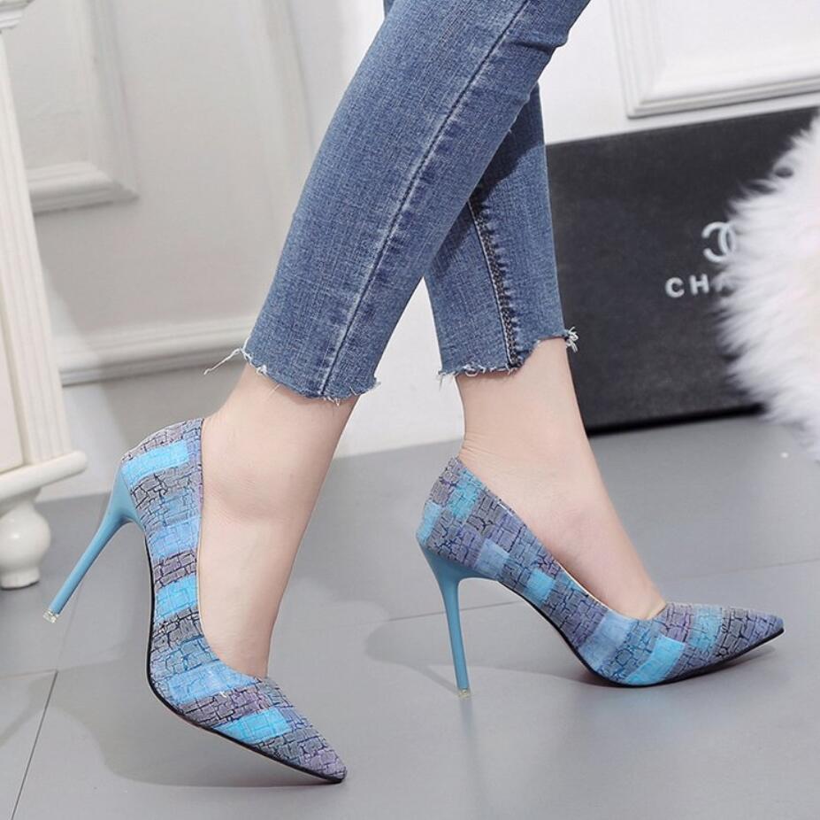 Bouche La Stiletto Automne Chaussures a2 De Peu Profonde 10 Pointu Femmes Talon Cm Nouvelle Simples A1 Femelle Haut Version Coréenne Tempérament Sauvage xFnx58PaY