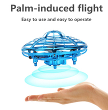 Mini drone UFO RC Drone Infraed Induction Aircraft Quadcopter Childrens toys Four wingsHelicopter headless mode sensory