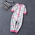 Бесплатная доставка детей onesie целом высокое качество хлопка пижамы дети хлопок тонкий удобные пижамы комбинезон