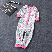 free shipping children onesie overall high quality cotton sleepwear  kids cotton thin comfortable pajamas  jumpsuit