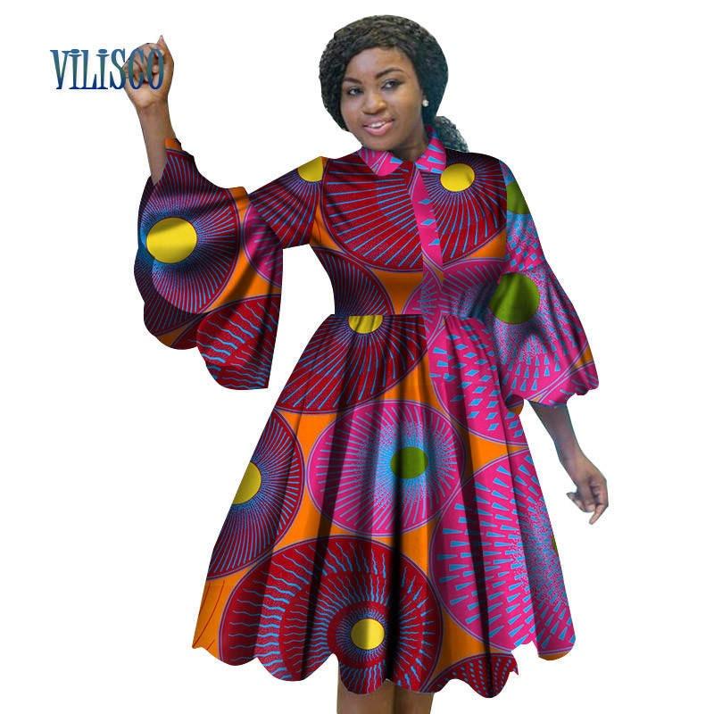 Africano Di Modo Di Stampa Abiti Per Le Donne Bazin Riche Bella Increspature Del Manicotto Vestito Rosso Tradizionale Africana Abbigliamento Donna Wy3222 Altamente Lucido